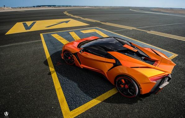 Picture Road, Machine, Asphalt, Orange, Rendering, Supercar, Concept Art, Sports car, SuperSport, Transport & Vehicles, Benoit …