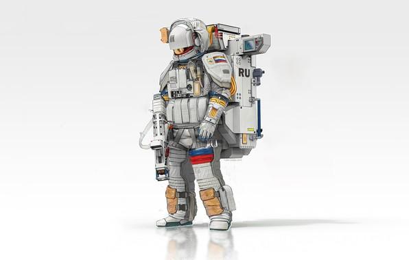 Picture Minimalism, Astronaut, Astronaut, Russia, Space, Art, Military, Minimalism, Soldier, Equipment, Science Fiction, Astronaut, Spaceman, Futuristic, …