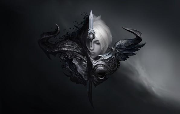 Picture darkness, fantasy, art, league of legends, Suke ∷, Riven vs Yasuo comic, Sveti