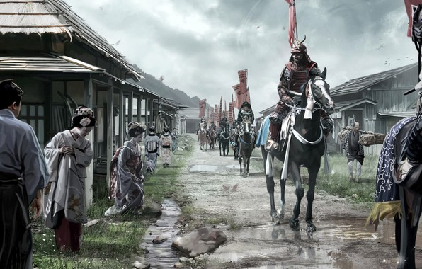 Picture village, samurai, Syutsujin, David Benzal