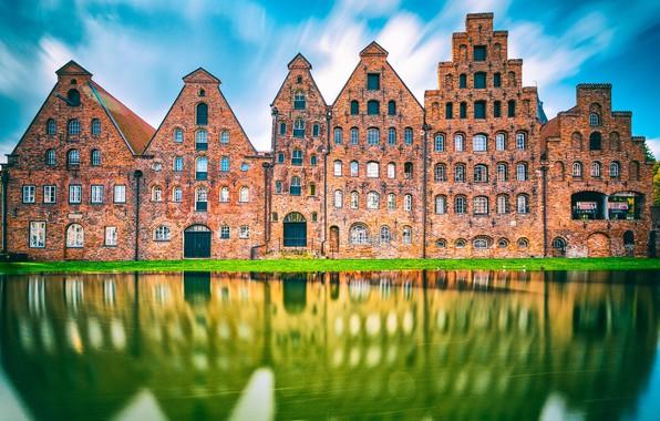 Picture Reflection, Schleswig-Holstein, Lübeck, Salt Storage Houses