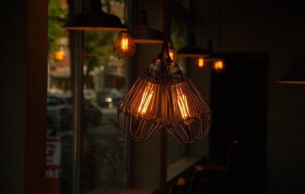Picture Cafe, Germany, Lamp, Incandescent bulbs