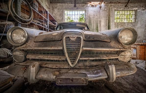 Picture machine, garage, scrap, naturalism