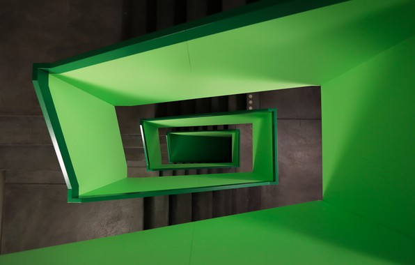 Picture green, staircase, switzerland, zurich, pascal meier, lime width