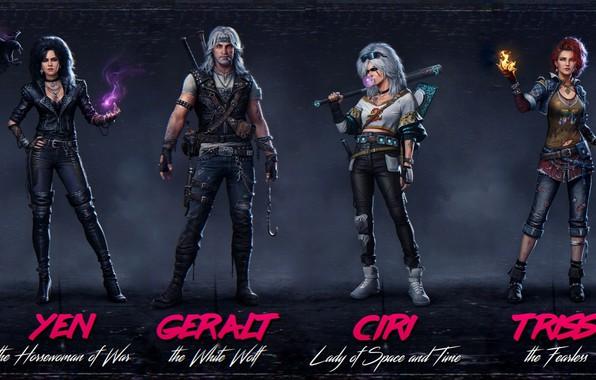 Picture Ian, Triss Merigold, Geralt of Rivia, Triss Merigold, White Wolf, The Witcher 3 Wild Hunt, …