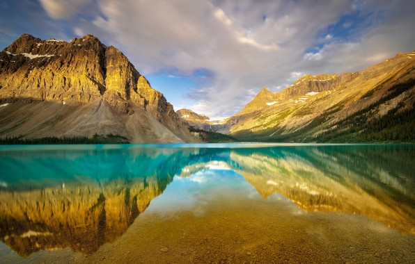 Picture Banff National Park, Alberta, Canada, Bow Lake