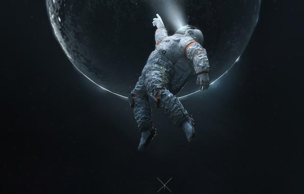 Picture The suit, Planet, Space, Astronaut, Astronaut, Fiction, Space, Space Journey, by Ramazan Kazaliev, Ramazan Kazaliev