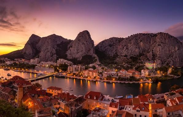 Picture Croatia, Omis, Split-Dalmatia, Blue Panorama