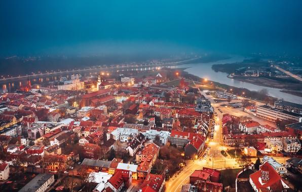 Picture Lithuania, Kaunas, city, misty