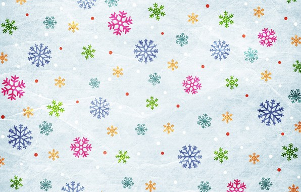 Picture snowflakes, background, graphics, texture
