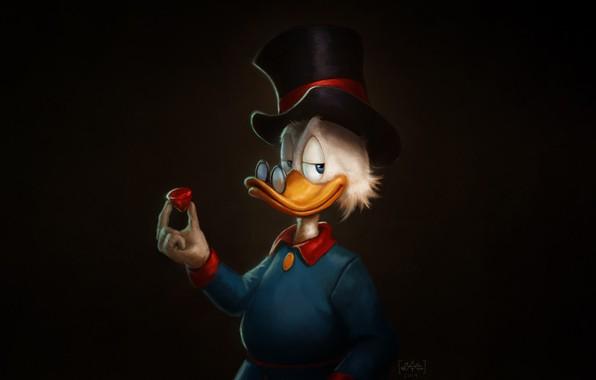 Picture Minimalism, Figure, Background, Art, Cartoon, Characters, Scrooge McDuck, Scrooge McDuck, Ducktales, Uncle Scrooge, Marcus Reyno, …