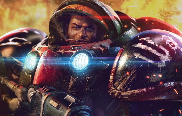 Picture the suit, starcraft, StarCraft, strategy, marine, remastered, marrine