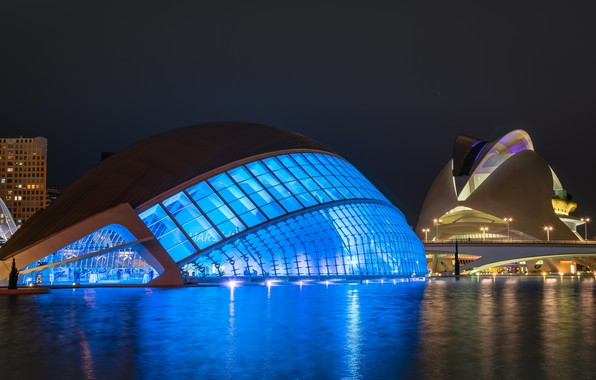 Picture lights, the evening, backlight, Spain, Valencia