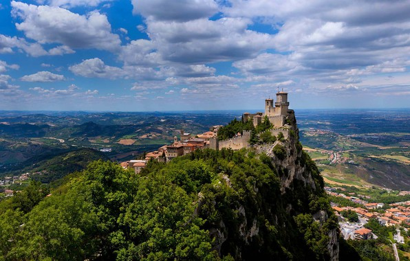 Picture rock, mountain, fortress, San Marino, Guaita