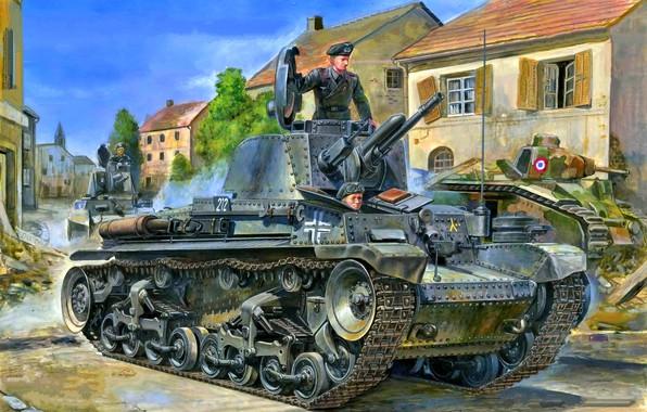 Picture The Wehrmacht, tankers, light tank, panzerwaffe, blitzkrieg 1940, Pz.Kpfw.35(t), 6 Panzer division