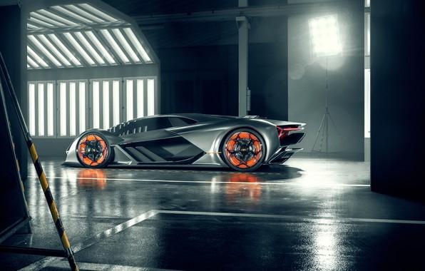 Picture Lamborghini, supercar, side view, The Third Millennium