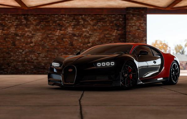 Picture Bugatti, Light, VAG, Forza, Chiron, Horizon 4