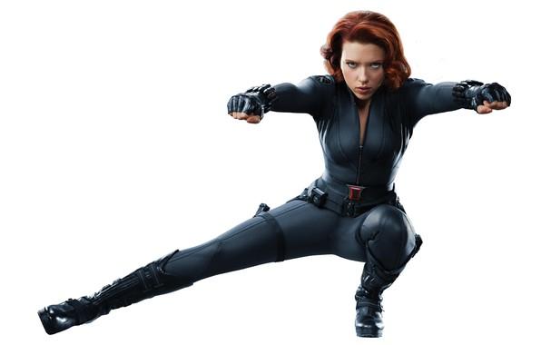 Picture girl, Scarlett Johansson, The Avengers, black widow