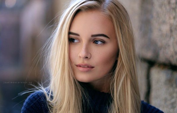 Picture model, portrait, makeup, hairstyle, blonde, beauty, bokeh, Joakim Oscarsson, Elvira Backteman