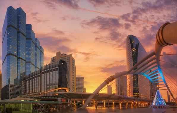 Picture sunset, the city, Thailand, Bangkok, Thailand, structure, Bangkok
