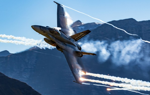 Picture Mountains, Fighter, LTC, The Swiss air force, The Effect Of Prandtl — Glauert, F/A-18 Hornet