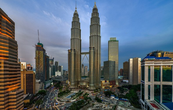 Picture the city, day, tower, Malaysia, Kuala Lumpur, the same