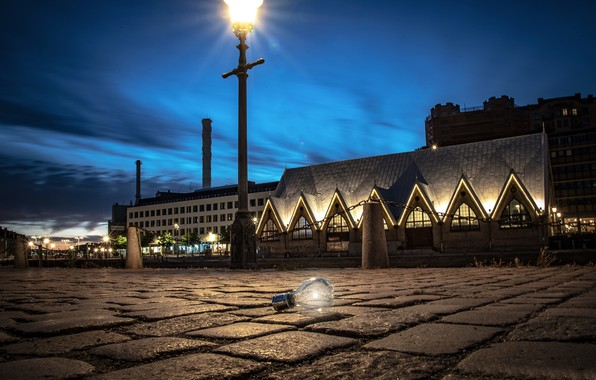 Picture light bulb, light, lights, the evening, Sweden, Gothenburg