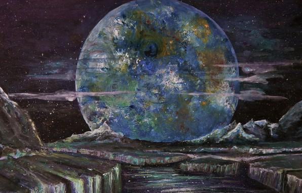 Picture Stars, Planet, Space, Art, Planet, Surface, Bruno Zumbo Art, by Bruno Zumbo Art, Bathshiva
