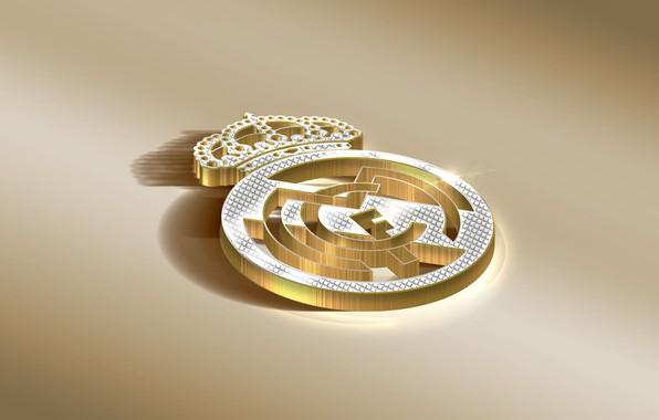 Picture Logo, Golden, Football, Real Madrid, Soccer, Real, Madrid, RMA, RealMadrid