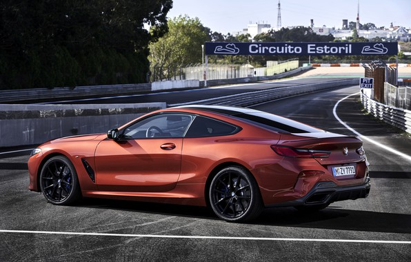 Picture coupe, BMW, Coupe, 2018, 8-Series, dark orange, M850i xDrive, Eight, G15, around the track