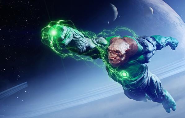 Picture planet, flight, will, green lantern, green lantern, Kilowog, Kilowog