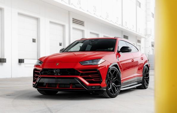 Picture Lamborghini, Front, Urus, Vossen, VAG, Sight