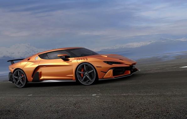Picture orange, supercar, V10, ItalDesign, 2017, Zerouno, 5.2 L.