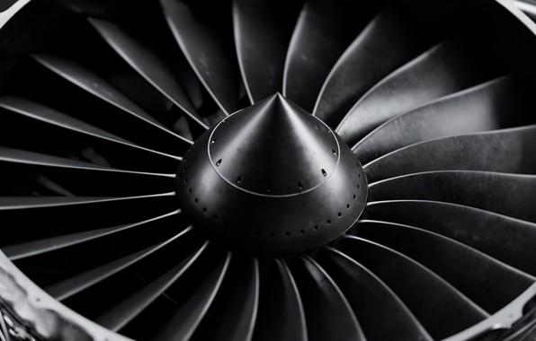 Photo Wallpaper The Plane Engine Aviation Turbine Aircraft Blades By