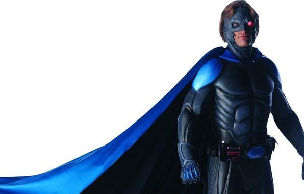 Picture mask, hero, costume, belt, cloak, red eye, neitman, Nightman, Matt McColm, Matt Mccolm, series 90