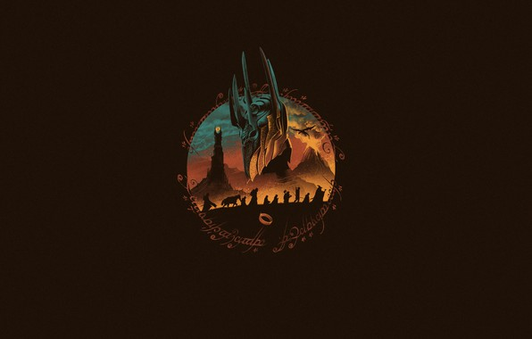 Picture Minimalism, Figure, The Lord of the rings, Art, The Lord of the Rings, Sauron, by …