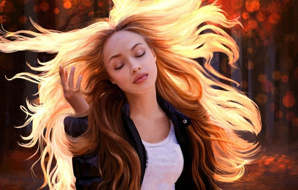 Picture Girl, Figure, Girl, Hair, Art, Art, Beauty, Beautiful, Hair, Sunlight, Artist, Curls, Artist, Mandy Jurgens, …