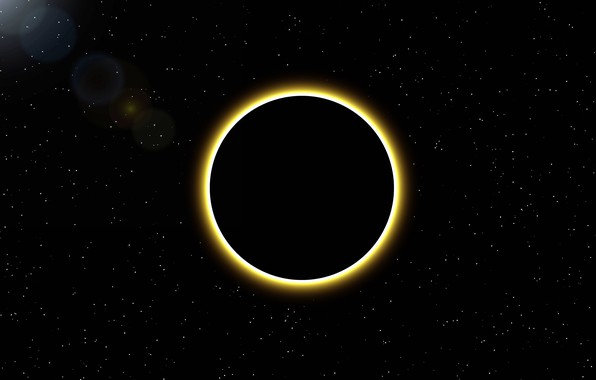 Picture the sun, space, stars, Eclipse, disk