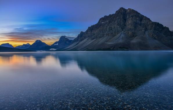 Picture mountains, lake, dawn, Canada, Albert, Banff National Park, Alberta, Canada, Banff national Park, Canadian Rockies, …