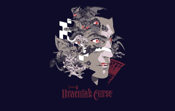 Picture face, background, vampire, Castlevania