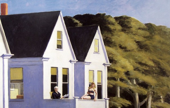 Picture 1960, Edward Hopper, Second Story Sunlight