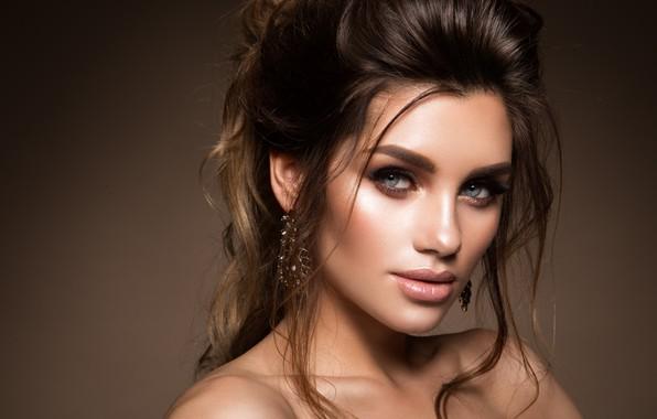 Picture look, girl, portrait, makeup, hairstyle, girl, woman, hair, model, makeup, Korabkova