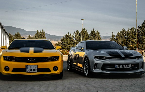 Picture Chevrolet, Camaro, georgia, old, new, Orang, Silver, tbilisi, best cars