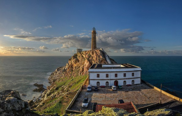 Picture the sky, coast, lighthouse