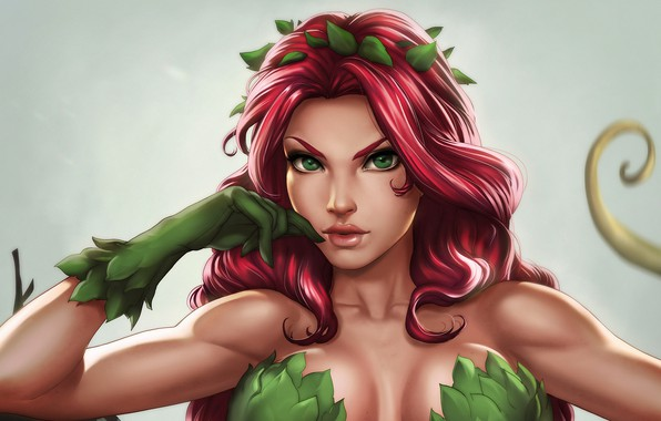 Picture girl, plant, poison ivy, DC Comics, Poison Ivy, Pamela Isley, by Dandonfuga