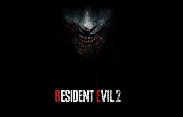 Picture The game, Blood, Teeth, Leather, Zombie, Logo, Zombies, Logo, Name, The enemy, Resident Evil 2