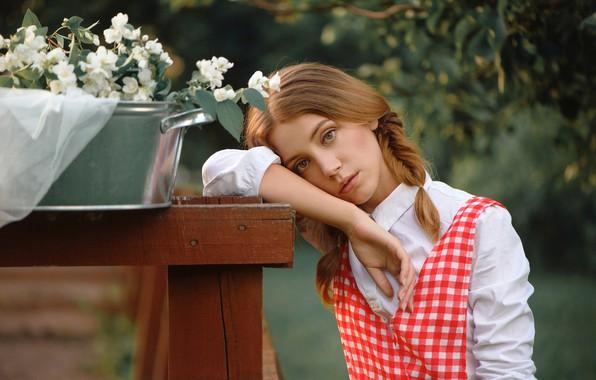 Picture look, girl, face, mood, hand, braids, Jasmine, Taz, Xenia, Anastasia Dobrovolskaya