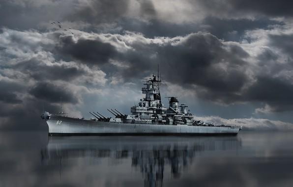 Picture Battleship, BB-62, USS New Jersey, USNavy