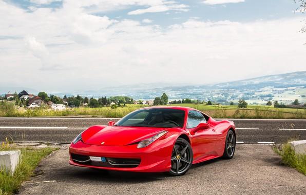 Picture Ferrari, red, 458, Italia