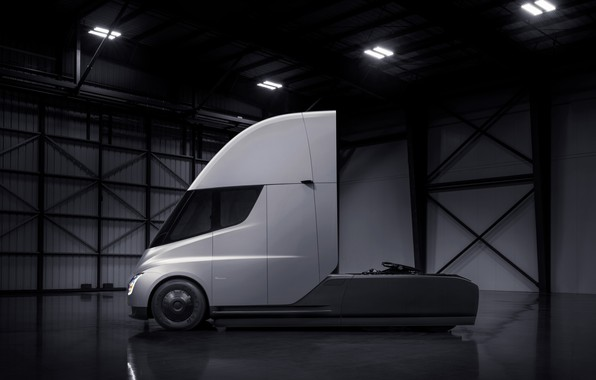 Picture truck, Tesla, tractor, electric, Semi